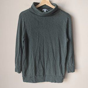 James Perse Sz 1/S Funnel Turtleneck Sweatshirt